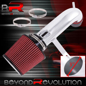 Short Ram Air Intake Black Piping 3 Red Cone Filter For 13 17 Nissan Altima