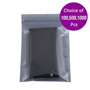 5x7in Translucent Anti static Zip Lock Pouch Bag W Heat Seal Machine B08