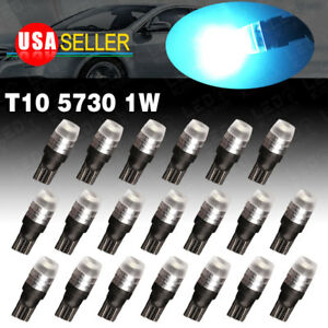 20x T10 5730 Led High Power Ice Blue Interior Lights Bulbs W5w 168 192 194 2825