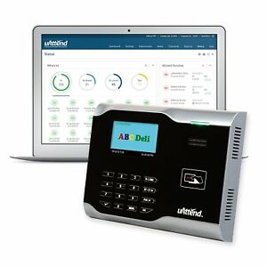 Time Clock For Employees Management Payroll Machine Punch In System Card Reader