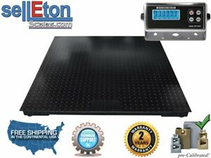 5 X 4 Pallet Floor Scale With Metal Indicator 5000 X 1 Lb