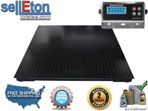 5 x4 60 X 48 Floor Scale pallet Scale With Metal Indicator 2500lb 5lb