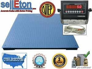 New Ntep 1000lb 2 Lb 5 x5 60 X 60 Floor Scale pallet Scale With Indicator