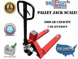Op 918 Industrial Warehouse Pallet Jack Scale With Built in Printer 5000 Lbs X 1