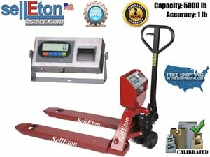 Ps 5000pjl Pallet Jack Scale With Built in Printer L 5000 Lb Capacity