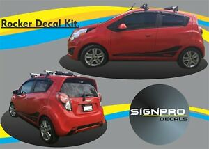 Chevy Spark Chevrolet Rally Racing Side Stripes 2013 15 Customize Free Shipping
