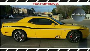 Dodge Challenger Side Stripes Spike 2011 16 Decals Side Rally Racing Custom Text