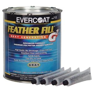 Evercoat Feather Fill G2 Polyester Primer Gray Gallon Made In Usa me 713