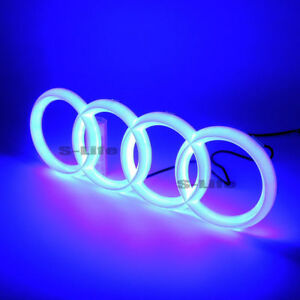 Blue Illuminated Led Grille Blled Logo Emblem Light For Audi A1 A3 A4 A5 Rs3 A6