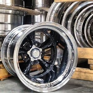 20x15 Torq Thrust D Black Custom Bild Chev Ford Mopar American Racing Custom