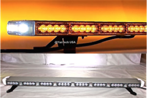 40 Led Amber Light Bar Flashing Tow plow Truck Wrecker brake Tail Turn Signal