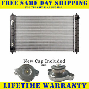 Radiator With Cap For Nissan Fits Altima Maxima 2 5 3 5 L4 4cyl V6 6cyl 2988wc