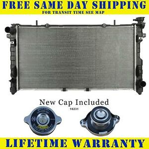 Radiator With Cap For Chrysler Dodge Fits Town Country Voyager Caravan 2795wc