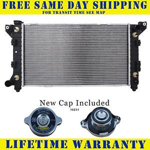 Radiator With Cap For Dodge Chry Fits Voyager Caravan 2 4 3 0 3 3 3 8 1862wc