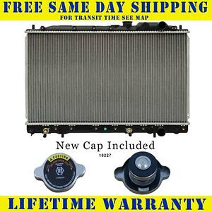 Radiator With Cap For Dodge Mitsubishi Fits Colt Summit Mirage 1 6 1 8 234wc