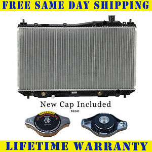 Radiator With Cap For Acura Honda Fits El Civic 1 7 L4 4cyl 2354wc