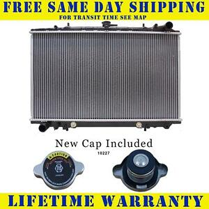 Radiator With Cap For Nissan Fits Maxima 300zx 3 0 V6 6cyl 48wc
