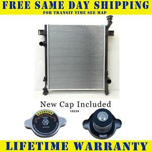 Radiator With Cap For Jeep Fits Liberty 3 7 V6 6cyl 13071wc