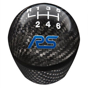 2016 2017 2018 Focus Rs Oem Ford Carbon Fiber 6 speed Gear Shift Knob W Logo