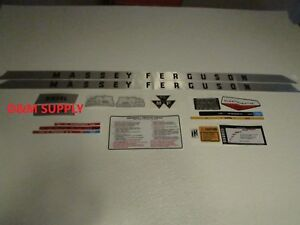 Decal Set Sticker To Fit Massey Ferguson Deluxe 175 1215 1023