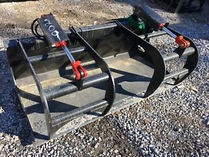 New 66 Grapple Bucket Skid Steer tractor Brush Bucket bobcat Case Cat Etc