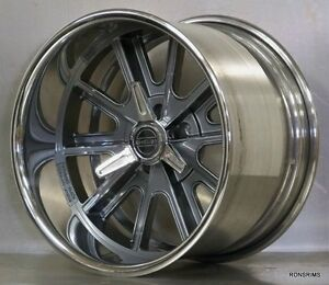 18x11 American Racing 407 s Custom Shelby Cobra Wheels Ford Mopar Gm Chevy