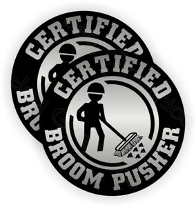 Funny Broom Pusher Hard Hat Stickers Decals Labels Safety Helmet Laborer Sweeper