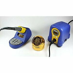 Fx888d 23by 599b 02 Soldering Station With Tip Cleaner Blue gold
