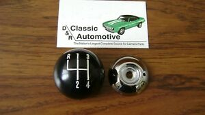 Shift Ball Knob Black chrome 5 16 Thread 4 speed Shifter in Stock fits Muncie