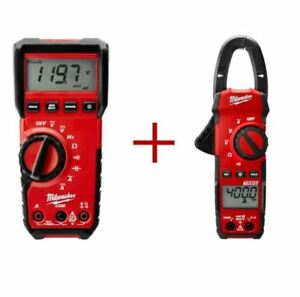 Clamp multimeter Combo Kit 600 volts Digital Multimeter 400 amp Clamp Meter