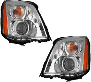 Hid Headlights Headlight Assembly W Ballast Pair Set For 06 11 Cadillac Dts