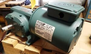 Heavy Duty Dodge Gear Reducer With Reliance 1 2 Hp 3 Phase Motor 162 1 Ratio