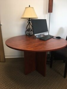 Office Furniture Cherry Veneer Circular 47 Conference Table