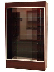 Ca Local Pickup Wall Cherry Knocked Down Display Show Case W lights wc4c sc