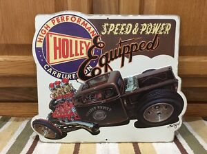 Holley Carburetor Rat Rod Tools Tires Motor Coupe Street Rod Vintage Style