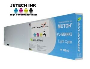 Mutoh Vj msink3 Eco Solvent Compatible 440ml Ink Cartridges Light Cyan