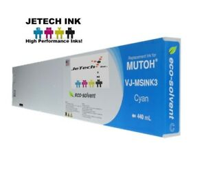 Mutoh Vj msink3 Eco Solvent Compatible 440ml Ink Cartridges Cyan