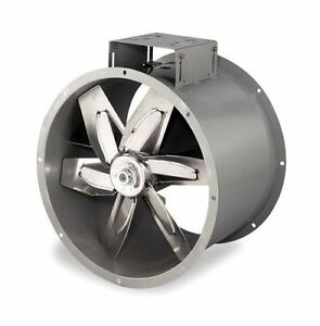 New 34 Dayton Tubeaxial Paint Spray Booth Fan Belt Drive 3c413 Aluminum Blade