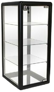 Only Hangers Glass Countertop Display Case Black