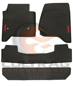 2015 2019 Gmc Yukon Gm Front 2nd 3rd Row All Weather Floor Mats Black