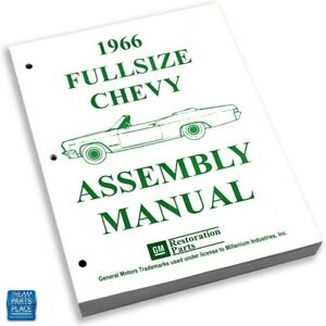 1966 66 Chevrolet Impala Bel Air Caprice Assembly Manual Each