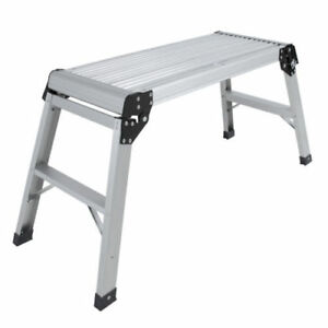 Certified En131 Aluminum Platform Drywall Step Folding Work Bench Stool Ladder