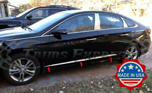 Fit 2015 2019 Hyundai Sonata 6pc Stainless Steel Body Side Molding Trim Abl