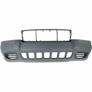 New Ch1000264 Plastic Textured Gray Front Bumper Cover For Grand Cherokee 99 03