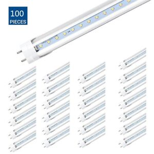 50pcs Led Tube Light clear Cover t8 6000k 4ft 48 Inches 20w Cool White Hp