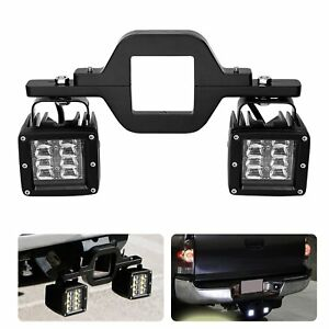Tow Trailer Hitch Mount Bracket Kit Offroad Dual Led Backup Reverse Truck Lamp