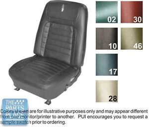 1968 Camaro Deluxe Black Vinyl Front Buckets Folddown Rear Seat Covers Pui