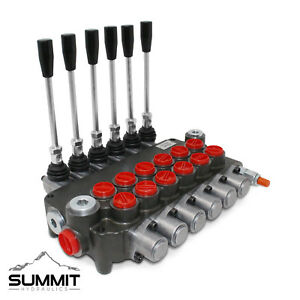 6 Spool Monoblock Hydraulic Directional Control Valve 21 Gpm Sae Ports