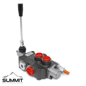 1 Spool Hydraulic Directional Control Valve Double Acting 21 Gpm Sae Ports