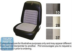 1968 Camaro Dlx Black Houndstooth Front Buckets Coupe Rear Seat Covers Pui